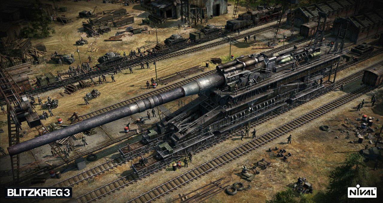 Das Eisenbahngeschütz zählt mit einem Kaliber von bis zu 80 cm zu den mächtigsten Artilleriegeschützen des 1. und 2. Weltkriegs (Quelle: http://de.blitzkrieg.com)