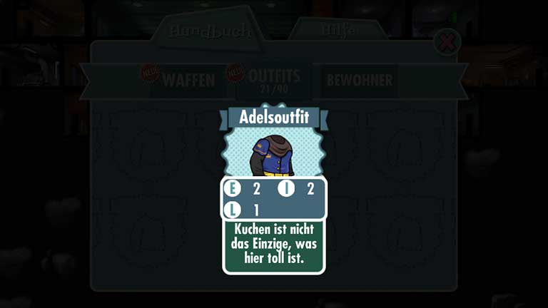 Fallout Shelter Adelsoutfit