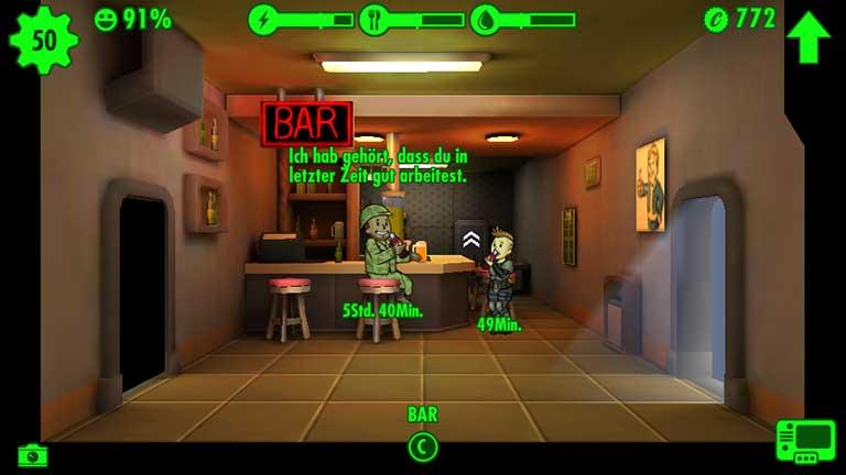 Fallout Shelter C-Wert steigern in mehreren Stunden