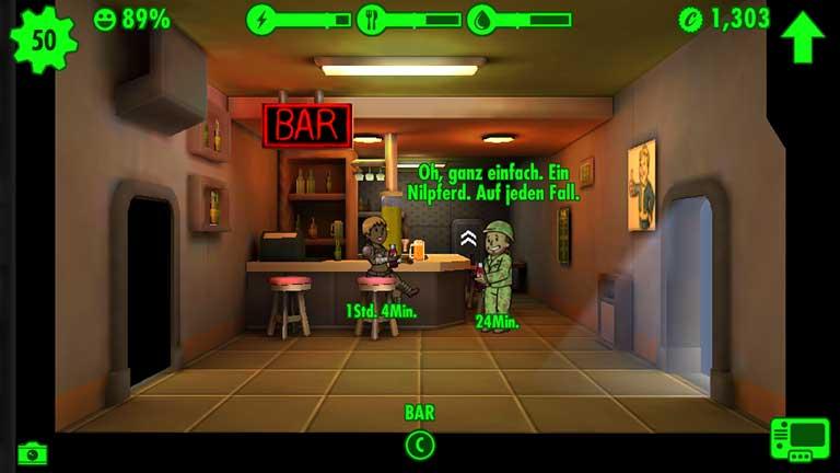 Fallout Shelter C-Wert steigern in der Bar