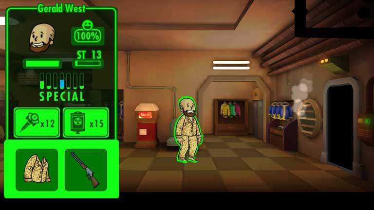 Fallout Shelter Charisma Wert durch Schlafanzug gesteigert