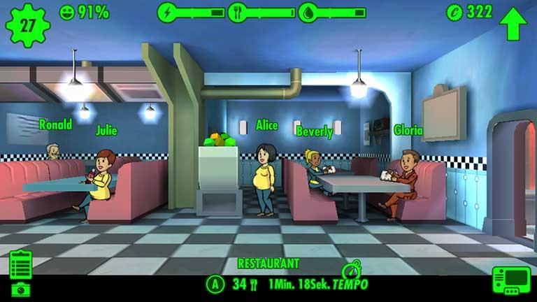 Fallout Shelter - Schwangere arbeiten weiter