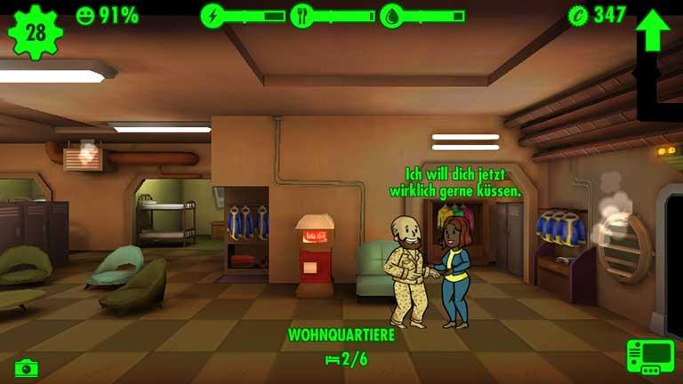 Fallout Shelter Tanzen und Flirten