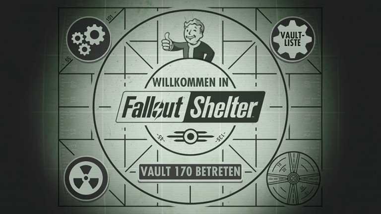 Fallout Shelter Startbildschirm