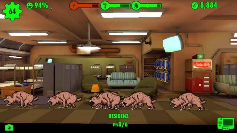 Fallout Shelter Maulwurfsratten
