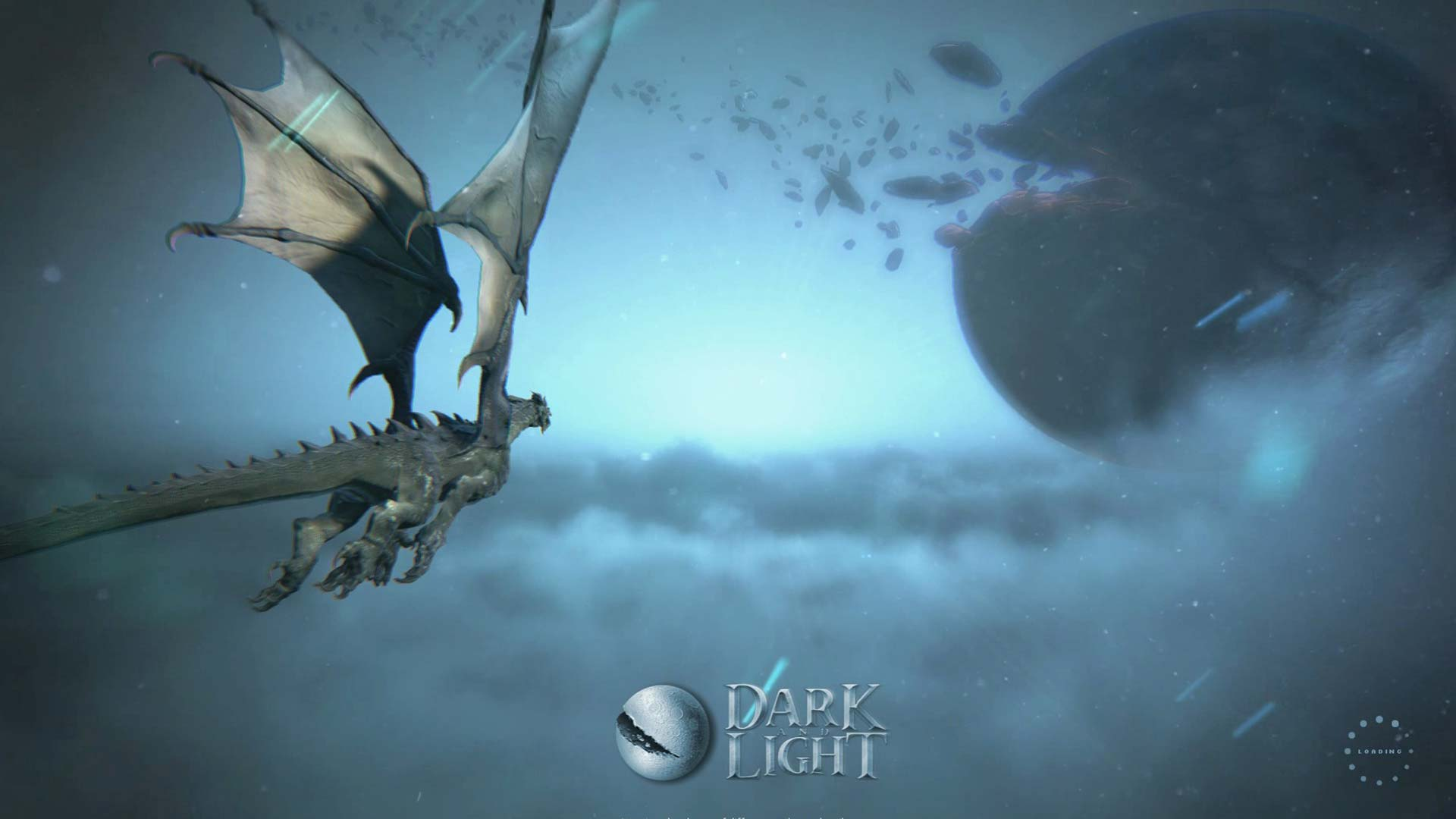 Screenshot Dark and Light mit Drache und Planet Gaia