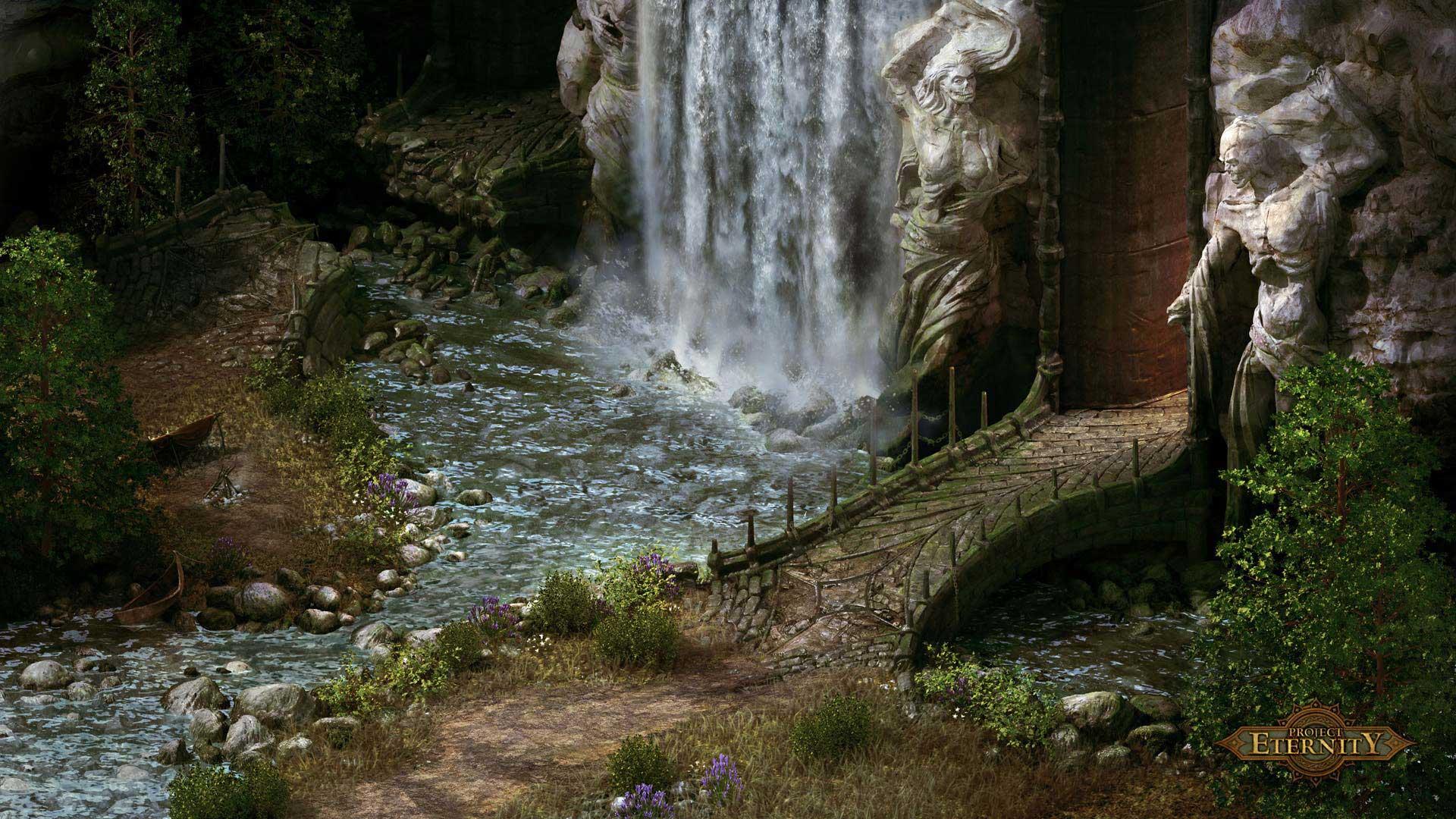 Screenshot zu Pillars of Eternity - Tempeleingang