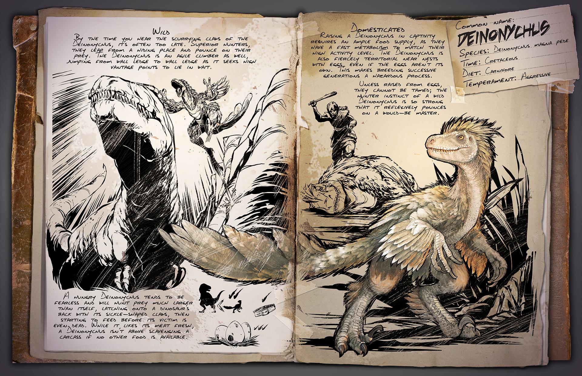 Dossier zum Deinonychus mit weiterführenden Informationen