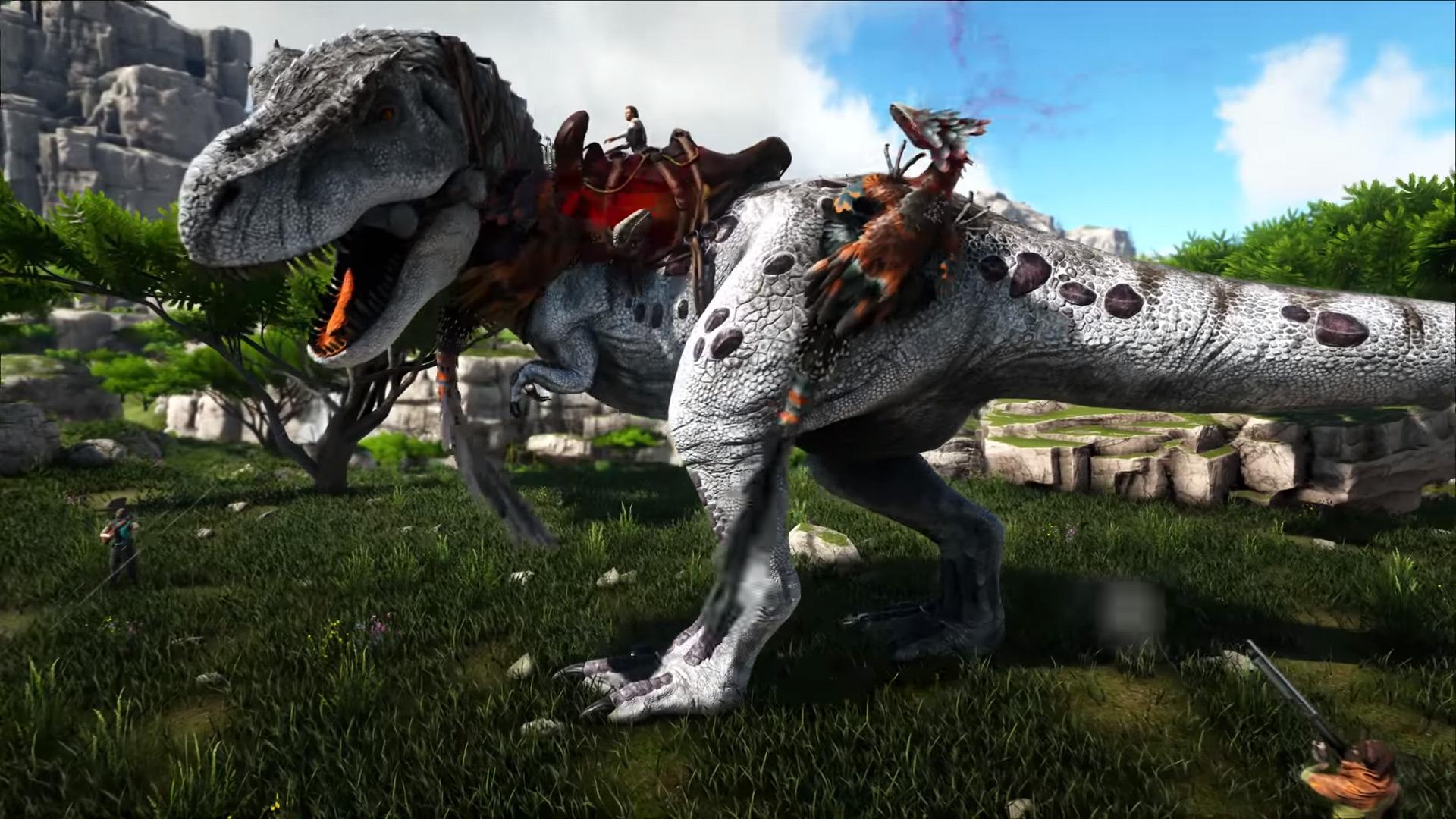 ARK Valguero - Deinonychus kämpft gegen T-Rex